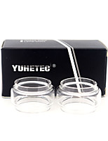 cheap -YUHETEC Fat Glass tube for Geekvape Alpha Atomizer 2PCS