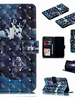 Недорогие -чехол для яблока iphone xr / iphone xs max flip / с подставкой / противоударный чехол для всего тела мультфильм / жесткая искусственная кожа собаки для iphone 6 / 6s plus / 7/8 plus / xs / x