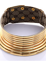 cheap -Women's Choker Necklace Classic Donuts Ethnic Resin Gold Silver 42 cm Necklace Jewelry 1pc For Street Festival