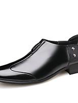 Недорогие -Муж. Официальная обувь Кожа Весна лето Шинуазери (китайский стиль) Мокасины и Свитер Нескользкий Черный / Коричневый / на открытом воздухе