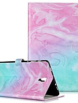 Недорогие -Кейс для Назначение SSamsung Galaxy Tab S4 10.5 (2018) / Tab A2 10.5(2018) T595 T590 / Samsung Tab S5e T720 10,5 Кошелек / Бумажник для карт / со стендом Чехол Мрамор Твердый Кожа PU