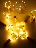 cheap -4pcs/lot Wine Bottle Stopper Cork Copper Wire 2M-20leds 3Modes Waterproof Starry String Lights for Valentines Wedding party