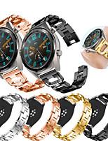 Недорогие -Ремешок для часов для Huawei Watch GT / Watch 2 Pro Huawei Спортивный ремешок / Дизайн украшения Нержавеющая сталь Повязка на запястье