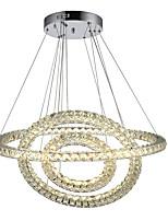 Недорогие -Круглый круг светодиодный подвесной светильник хрустальный потолок подвесной светильник подвесной светильник современные простые хрустальные люстры потолочные светильники 110-120 В / 220-240 В