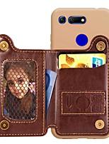 Недорогие -Кейс для Назначение Huawei Honor 10 Lite / Honor V20 / Huawei Honor 8X Кошелек / Бумажник для карт / Защита от удара Кейс на заднюю панель Однотонный Твердый Кожа PU