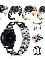 Недорогие -Ремешок для часов для Gear S3 Frontier / Gear S3 Classic / Samsung Galaxy Watch 46 Samsung Galaxy Спортивный ремешок / Дизайн украшения Нержавеющая сталь Повязка на запястье