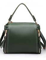 cheap -Women's Polyester / PU Top Handle Bag Solid Color Black / Red / Green