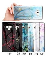 Недорогие -Кейс для Назначение SSamsung Galaxy Note 9 / Note 8 С узором Кейс на заднюю панель Мрамор Твердый Закаленное стекло