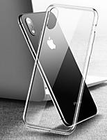 Недорогие -Кейс для Назначение Apple iPhone XS / iPhone XR / iPhone XS Max Прозрачный Кейс на заднюю панель Прозрачный Твердый Закаленное стекло