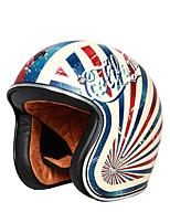 Недорогие -унисекс винтажный мотоциклетный шлем встроенный объектив с открытым лицом шлем