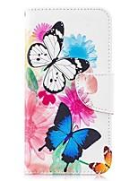 Недорогие -Кейс для Назначение SSamsung Galaxy S9 / S9 Plus / S8 Plus Кошелек / Бумажник для карт / со стендом Чехол Бабочка Твердый Кожа PU