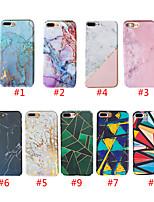 Недорогие -чехол для apple iphone xs max / iphone 8 plus pattern / ударопрочная задняя крышка мраморный жесткий ПК для iphone 7/7 plus / 8/6/6 plus / xr / x / xs