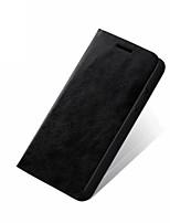 Недорогие -Кейс для Назначение Apple iPhone XS / iPhone XR / iPhone XS Max Бумажник для карт / Флип Кейс на заднюю панель Однотонный Твердый Настоящая кожа