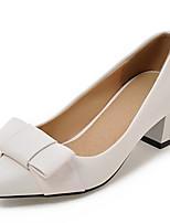 Недорогие -Жен. Обувь на каблуках На толстом каблуке Заостренный носок Бант Полиуретан Весна & осень Серый / Красный / Розовый