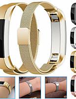 Недорогие -металлический магнит из нержавеющей стали миланский петли браслет браслет ремешок для часов браслет для fitbit alta / fitbit alta hr