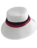 Недорогие -Жен. Активный Классический Симпатичные Стиль Соломенная шляпа Шляпа от солнца Хлопок,Контрастных цветов Все сезоны Белый Черный