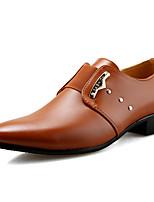 Недорогие -Муж. Комфортная обувь Полиуретан Лето На каждый день / Английский Мокасины и Свитер Для прогулок Дышащий Сапоги до середины икры Черный / Коричневый / на открытом воздухе