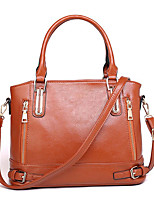 cheap -Women's Polyester / PU Top Handle Bag Solid Color Black / Brown / Almond