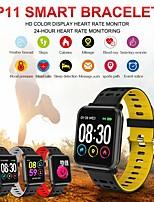 Недорогие -St11 IP68 водонепроницаемый Bluetooth-гарнитура смарт-часы фитнес-трекер сердечного ритма кислорода в крови давление калорий сна монитор для Android IOS