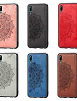Недорогие -Кейс для Назначение Huawei Huawei nova 4e / Huawei Y7 Pro (2019) / Huawei Y7 2019 Защита от удара / Рельефный Кейс на заднюю панель Цветы Мягкий холст
