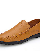 cheap -Men's Cowhide Spring & Summer / Fall & Winter Loafers & Slip-Ons Walking Shoes Breathable Dark Brown / Yellow / Black