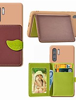 Недорогие -Кейс для Назначение Huawei Huawei Nova 4 / Huawei nova 4e / Huawei P20 Бумажник для карт / Защита от удара / со стендом Кейс на заднюю панель Пейзаж / дерево Твердый Кожа PU