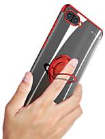 Недорогие -Кейс для Назначение Huawei Huawei P20 / Huawei P20 Pro / Huawei Honor 10 Защита от удара / Кольца-держатели / Магнитный Кейс на заднюю панель Прозрачный / Животное Мягкий силикагель