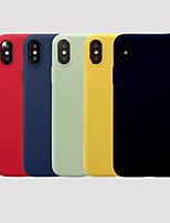 Недорогие -чехол для яблока iphone xr / iphone xs max матовая задняя крышка однотонная мягкая тпу для 6 6 plus 6s 6splus 7 8 7plus 8plus x xs