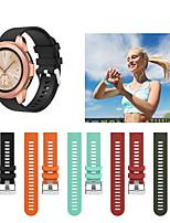 Недорогие -спортивный силиконовый браслет ремешок для часов ремешок для часов samsung galaxy 42 мм / часы galaxy active / gear спорт / gear s2 classic smart watch