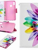 Недорогие -Кейс для Назначение Huawei Huawei P30 / Huawei P30 Pro / Huawei P30 Lite Кошелек / Защита от удара / со стендом Чехол Цветы Твердый Кожа PU