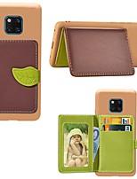 Недорогие -Кейс для Назначение Huawei Mate 10 lite / Huawei Mate 20 lite / Huawei Mate 20 pro Бумажник для карт / Защита от удара / со стендом Кейс на заднюю панель Пейзаж / дерево Твердый Кожа PU