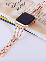 Недорогие -Ремешок для часов для Apple Watch Series 4/3/2/1 Apple Современная застежка / Дизайн украшения Нержавеющая сталь Повязка на запястье