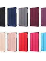 Недорогие -Кейс для Назначение SSamsung Galaxy Samsung Tab S5e T720 10.5 Защита от удара / со стендом / Флип Чехол Однотонный Твердый Кожа PU для Tab S4 10.5 (2018) / Tab A2 10.5(2018) T595 T590 / Samsung Tab