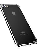 Недорогие -Кейс для Назначение Apple iPhone 8 Pluss / iPhone 8 / iPhone 7 Plus Защита от пыли / Защита от влаги / Прозрачный Кейс на заднюю панель Однотонный Мягкий ТПУ