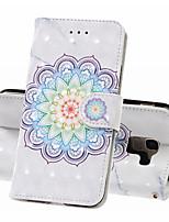 Недорогие -Кейс для Назначение SSamsung Galaxy J6 (2018) / J4 (2018) / Galaxy J4 Plus (2018) Кошелек / Бумажник для карт / Защита от удара Чехол Цветы Твердый Кожа PU