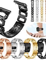 Недорогие -Ремешок для часов для Fitbit Versa / Fitbit Versa Lite Fitbit Спортивный ремешок / Дизайн украшения Нержавеющая сталь Повязка на запястье