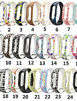 Недорогие -часы силиконовые для xiaomi mi band 2 умные часы ремешок на запястье ремень красочный браслет