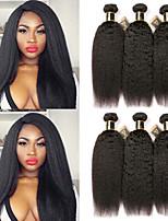 Недорогие -6 Связок Бразильские волосы Естественные прямые 100% Remy Hair Weave Bundles Человека ткет Волосы Пучок волос One Pack Solution 8-28 дюймовый Естественный цвет Ткет человеческих волос