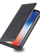 Недорогие -чехол для apple iphone xr iphone xs max держатель флип-карты чехлы для всего тела однотонные жесткие искусственная кожа для iphone xs iphone 8 plus iphone 8 iphone 7 plus iphone 7
