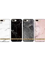 Недорогие -Кейс для Назначение Apple iPhone XS / iPhone XR / iPhone XS Max IMD / С узором Кейс на заднюю панель Мрамор Мягкий ТПУ