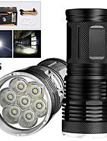 Недорогие -EX7 Светодиодные фонари Светодиодная лампа LED 7 излучатели 5600 lm Руководство 3 Режим освещения Водонепроницаемый Для профессионалов Анти-шоковая защита