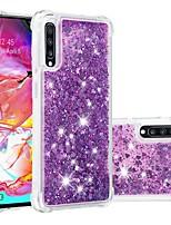 Недорогие -Кейс для Назначение SSamsung Galaxy A6 (2018) / A6+ (2018) / Galaxy A7(2018) Защита от удара / Движущаяся жидкость / Прозрачный Кейс на заднюю панель Сияние и блеск Мягкий ТПУ
