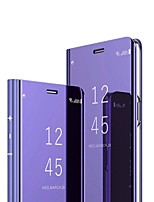 Недорогие -Кейс для Назначение Huawei Huawei P30 / Huawei P30 Pro / Huawei Mate 20 pro Зеркальная поверхность / Флип Чехол Однотонный Твердый ПК