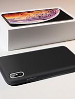 Недорогие -Кейс для Назначение Apple iPhone XS / iPhone XR / iPhone XS Max Матовое Кейс на заднюю панель Однотонный Мягкий силикагель