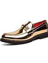 Недорогие -Муж. Комфортная обувь Микроволокно Лето На каждый день / Английский Мокасины и Свитер Для прогулок Дышащий Сапоги до середины икры Золотой / Черный