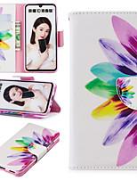 Недорогие -Кейс для Назначение Huawei Huawei Honor 10 / Honor 10 Lite / Honor 8 Бумажник для карт / со стендом / Флип Чехол Пейзаж / Животное / Мультипликация Твердый Кожа PU / Настоящая кожа