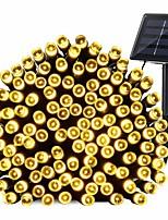 Недорогие -12м Гирлянды 100 светодиоды EL 1 монтажный кронштейн Тёплый белый Водонепроницаемый / Работает от солнечной энергии / Декоративная 4 V / Аккумуляторы 1 комплект