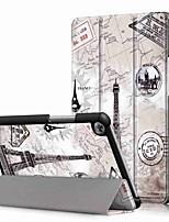 Недорогие -Кейс для Назначение Huawei Huawei Mediapad T5 10 / Huawei Mediapad M5 Lite 10 Защита от удара / со стендом / Ультратонкий Чехол Пейзаж Твердый Кожа PU для Huawei Mediapad T5 10 / Huawei Mediapad M5