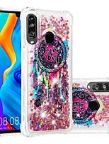 Недорогие -Кейс для Назначение Huawei Huawei P20 / Huawei P20 Pro / Huawei P20 lite Защита от удара / Движущаяся жидкость / Прозрачный Кейс на заднюю панель Мультипликация / Сияние и блеск Мягкий ТПУ / P10 Lite