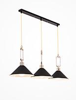 Недорогие -3-Light чаша Подвесные лампы Рассеянное освещение Окрашенные отделки Металл Творчество 110-120Вольт / 220-240Вольт